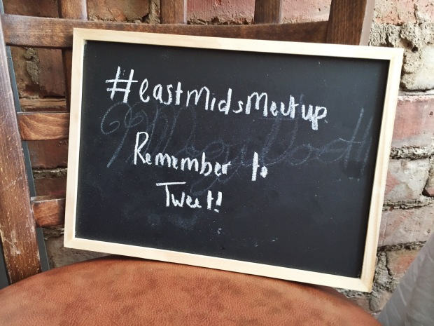 Chalkboard at the East Midlands meet up